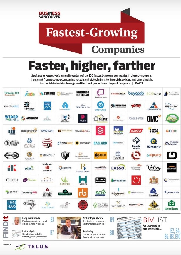 Genesis Security Group in BIV List of 100 Fastest Growing Companies